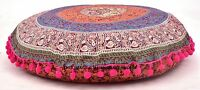 Yoga Housse Coussin Bohème Oreillers Mandala 81.3cm Grand Indien Sol Rond