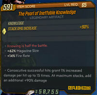 Borderlands 3 PS4 The Pearl Of Ineffable Knowledge GOD Roll Magazine Fire Rate