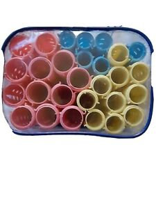 Plastic Multi-Size Curlers in Carrying Case