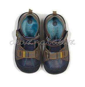 Luxury cute DEUX PAR DEUX VELCRO baby boy blue shoes 5US/20EU 6US/22EU 7US/23EU