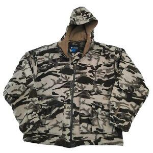 Columbia PHG Monarch Pass Wool Blend Snow Camo Hooded Jacket XXL 2XL GUC!!!