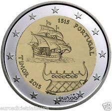 Pièce commémorative 2 euros PORTUGAL 2015 - 1er contact avec l'Île Timor - UNC