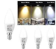 E14 SES 5W Non Dimmable LED Candle Light Bulb Cool Day Warm White SMD Desk Lamp