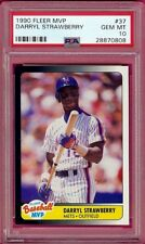 1990 Fleer MVP Darryl Strawberry # 37 PSA 10 Gem Mint Low Pop 1