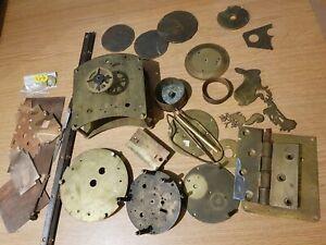 Clockmakers Brass & Copper Scrap Box Contents Plates Parts Bits  1.8kg ref 3
