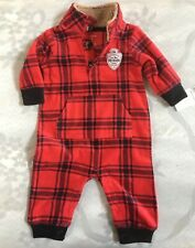 Carter's Outfit Winter Baby Boy Red Black 3 Months Warm...