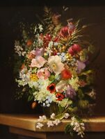 "PAINTING DIETRICH STILL LIFE OF FLOWERS 12x16 "" POSTER ART PRINT HP3255"