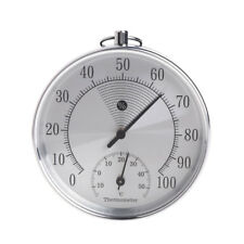 Indoor Outdoor Thermometer Hygrometer Temperature Humidity Meter Metallic HT9100