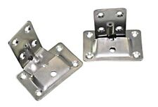 Stainless Steel Table Mounting Set 2 Wall Plates Brackets