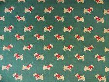 WtW Fabric Dog Dogs Scottie Scotty Scottish Terrier Bow Ameritex Vintage Quilt