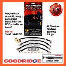 Mazda MX5 Mk2 01/01-11/05 Goodridge Stainless V.Black Brake Hoses SMA0101-4C-VB