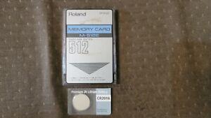 ROLAND M-512E MEMORY CARD + NEW BATTERY FOR JV-1080/2080/JD990/D50/D550/JV880/R8