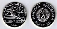 BULGARIEN   25 Leva 1988  Olympiade  Skilauf   PP/Silber