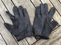 Men's Vintage 60s Dark Brown Leather Driving Gloves Wonderful Patena Size S/M