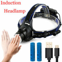 Induction XM-L T6 LED Headlamp Headlight Head front Light Lamp Flashlight Torch