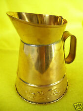 """Vintage Hosley USA Metal Brass Decorative 3 1/4"""" Tall Miniature Watering Can"""