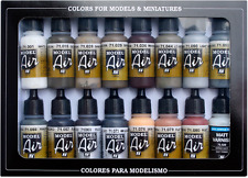 Weathering Colors: 16 Paint Set for Model Vehicles & Soldiers (Vallejo 71194)