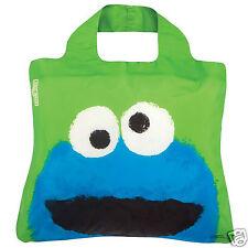 ENVIROSAX COOKIE MONSTER Bag Sesame Street Roll Up Reusable Shopping Tote