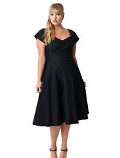 Womens Plus Size Wear Dress Short Sleeve Casual Loose A Line For Party Cocktail