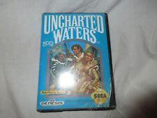 UNCHARTED WATERS SEGA MEGA DRIVE(GENESIS).with instructions rare