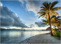 Bora Bora Tropical Beach Paradise Large Poster Art Print A0 A1 A2 A3 A4 Maxi