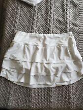Womens Medium Athleta White Workout Skirt