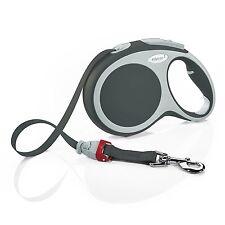 Flexi Vario, Anthracite (Black / Grey)Extendable, retractable tape lead. 8m 50KG
