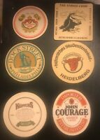 Vintage ~ Lot of 6 Bar Beer Drink Coasters (The Stoned Crow, Kuppers, and More)