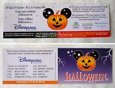 "CARTE COLLECTION PARC DISNEYLAND PARIS ""HALLOWEEN"" 1998"