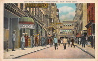 Pell Street, Chinatown, Manhattan, New York City,  N.Y., Early Postcard, Unused