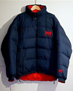 Helly Hansen Size XL Puffa Down Jacket Wendejacke Daunenjacke Jacke Vintage Blau