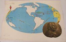 Schulwandkarte Wall Chart Discovery Auffindung America's 4165 Schulmann 1954
