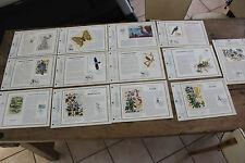 Lot de 13 feuillets timbre CEF - Faune Flore - Rapaces Nature... N°15