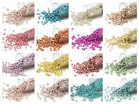 7.5 grams Miyuki Delica 11/0 glass seed beads round All Opaque Galvanized