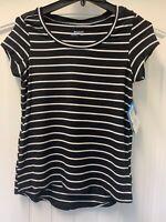 Columbia Womens Omni-Wick Fairview Short Sleeve Shirt Size Large Black White
