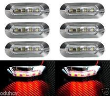 8x LED 24V post. rosso cromo luci di ingombro camion Lkw Rimorchio AUTOBUS