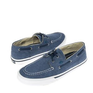 SPERRY TOP-SIDER Canvas Deck Sneakers EU 41.5 UK 7.5 US 8.5 Garment Dye Lace Up