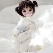 30cm 1/6 Mini BJD Doll Lovely Girl Toddler with Full Set Clothes Outfit Kids Toy