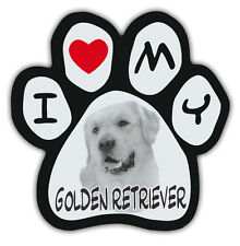 Picture Paws | Dog Paw Shaped Magnets: I LOVE MY GOLDEN RETRIEVER | Car Magnet