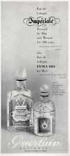 1961  Guerlain Imperiale Perfume VIntage Bottle PRINT AD