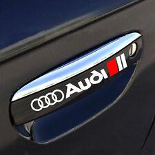 AUDI A3 A4 A6 A8 RS3 RS4 Q5 S- Line Door Handle Decal sticker emblem logo WHITE