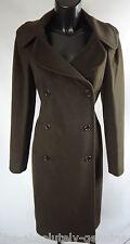 AQUASCUTUM Onyx Green ROMA Wool Coat sz 8 rrp £850