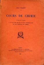 JEAN ISABEY, COURS DE CHIMIE (1930)