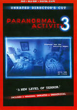 Paranormal Activity 3 Rated/Unrated NEW DVD+ BLU-RAY + DIGITAL   FREE SHIPPING!!