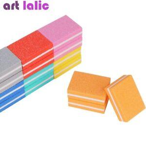 50Pcs Nail Art Buffer Blocks Mini Files Manicure Pedicure Buffering Tools