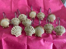Seashells Shower Curtain Hooks ~  Set of 12