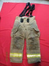 Lion Janesville 40r Firefighter Turnout Bunker Gear Pants Tow Suspenders