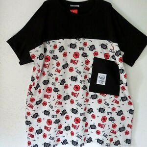 LES FRERES by LA BASS weite Sommer Tunika Kleid schwarz + Druck 48-50-52 EG