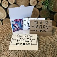 Custom Wedding Favour Idea Personalised Scratch Card Favor Wallets Lottery Gift
