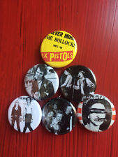 """1.25"""" Sex Pistols pin back button set of 6"""